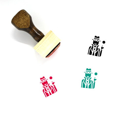 Inspector Wooden Rubber Stamp No. 4