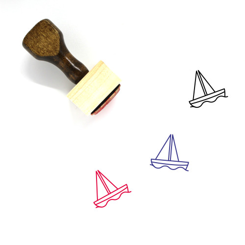 Boat Wooden Rubber Stamp No. 95