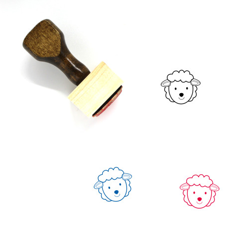 Sheep Wooden Rubber Stamp No. 59