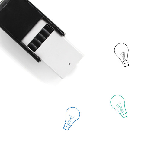 Light Bulb Self-Inking Rubber Stamp No. 368