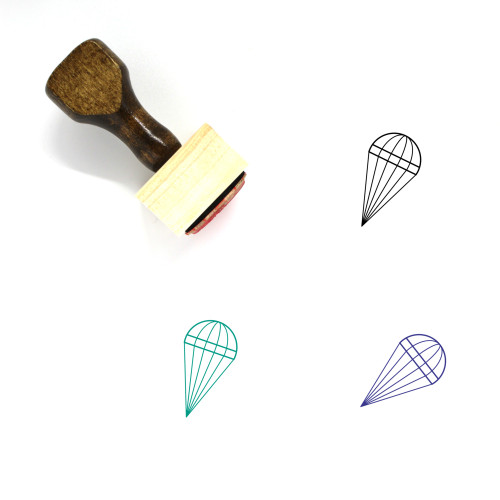 Parachute Wooden Rubber Stamp No. 67