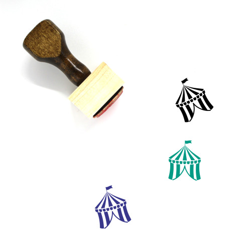 Circus Tent Wooden Rubber Stamp No. 36