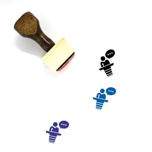 Conference Wooden Rubber Stamp No. 52