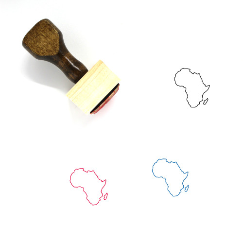 Africa Wooden Rubber Stamp No. 60