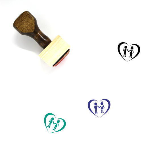 Couple Wooden Rubber Stamp No. 110