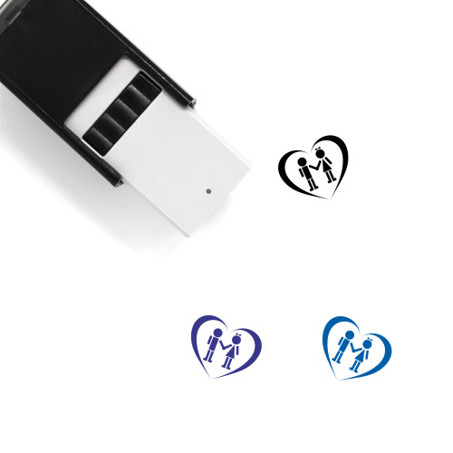Couple Self-Inking Rubber Stamp No. 110