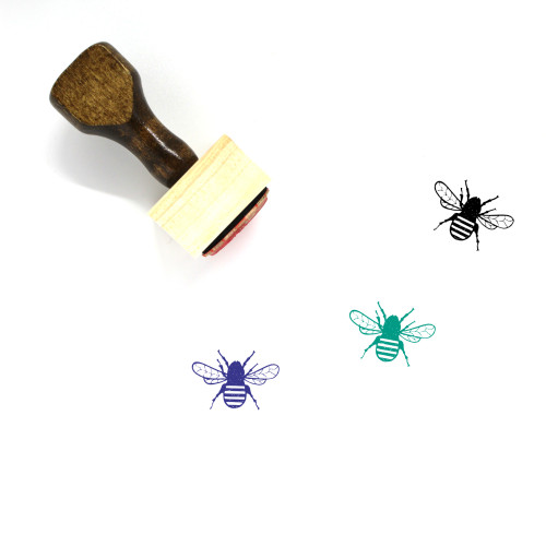 Bee Wooden Rubber Stamp No. 39