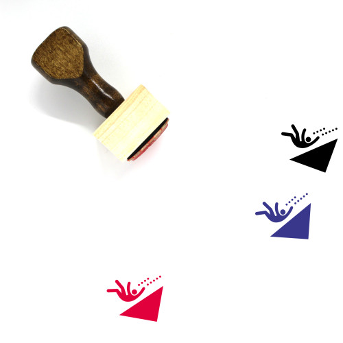 Falling Wooden Rubber Stamp No. 8