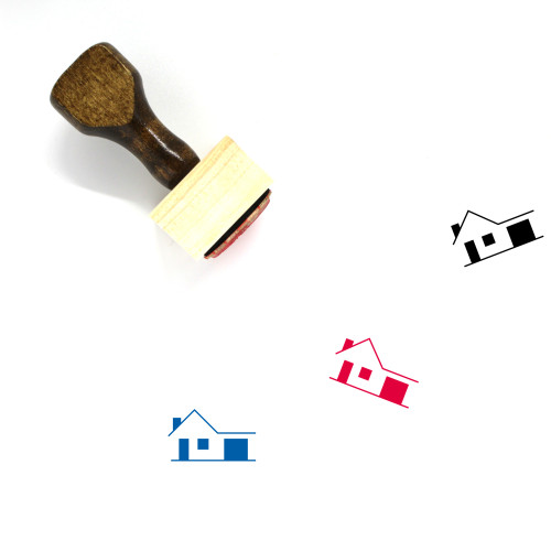 House Wooden Rubber Stamp No. 426