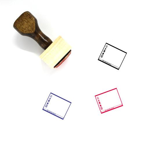 Operating System Layout Wooden Rubber Stamp No. 14
