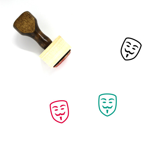 Guy Fawkes Wooden Rubber Stamp No. 6