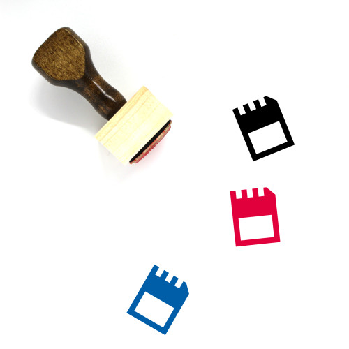 Memory Card Wooden Rubber Stamp No. 85