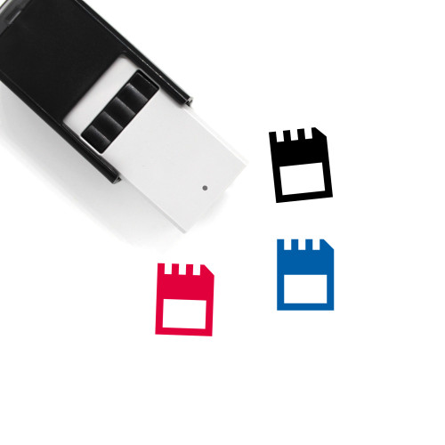 Memory Card Self-Inking Rubber Stamp No. 85