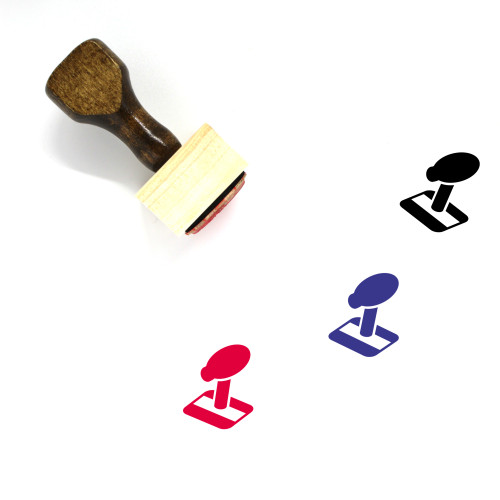 Gear Stick Wooden Rubber Stamp No. 6