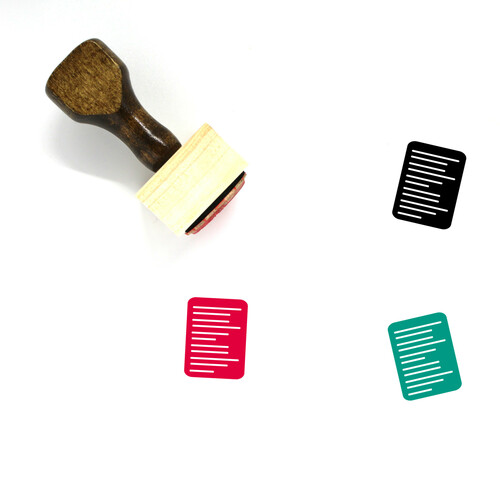 Resume Wooden Rubber Stamp No. 44