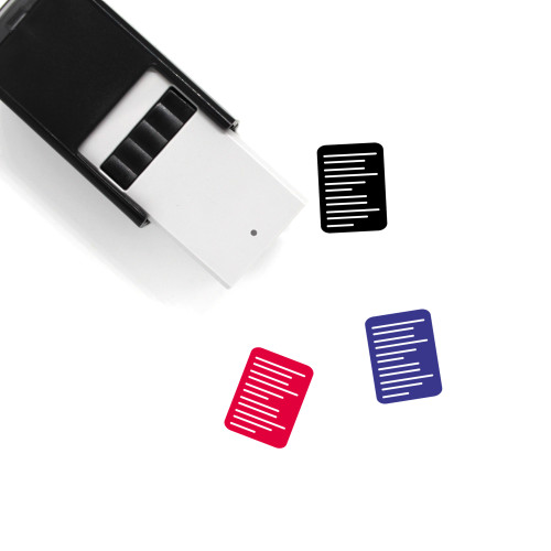 Resume Self-Inking Rubber Stamp No. 44
