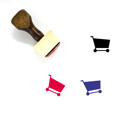 Shopping Cart Wooden Rubber Stamp No. 311