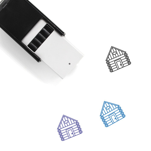 Log Cabin Self-Inking Rubber Stamp No. 28