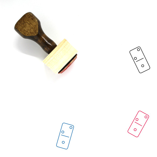 Domino Wooden Rubber Stamp No. 185