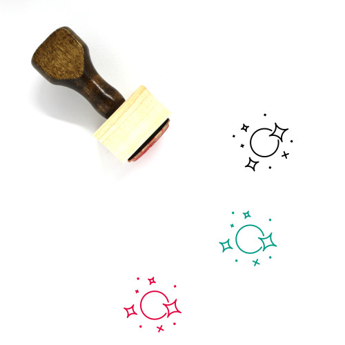 Universe Wooden Rubber Stamp No. 30