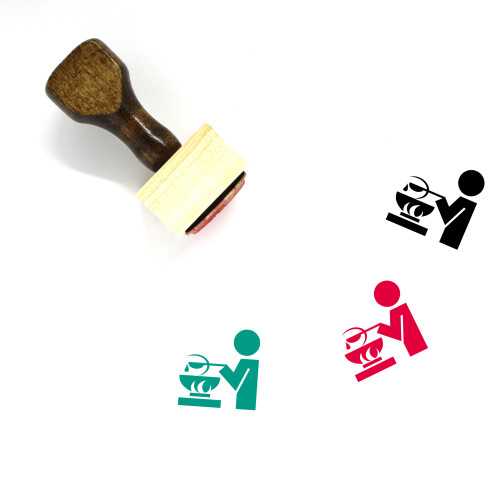 Cook Wooden Rubber Stamp No. 37