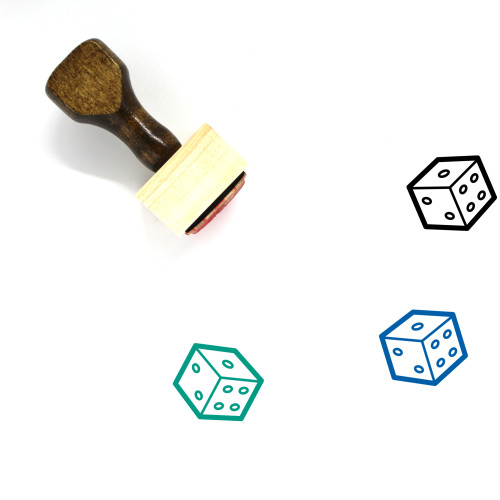 Dice Wooden Rubber Stamp No. 171