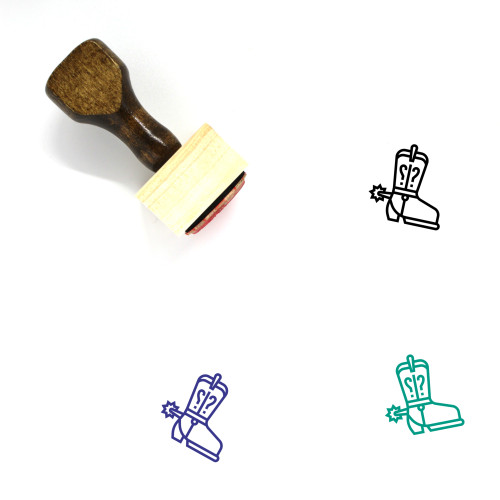 Shoes Cowboy Wooden Rubber Stamp No. 2