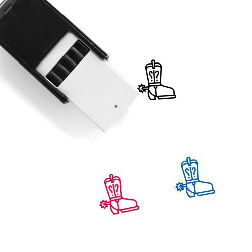 Shoes Cowboy Self-Inking Rubber Stamp No. 2