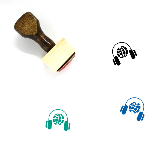Global Communication Wooden Rubber Stamp No. 37
