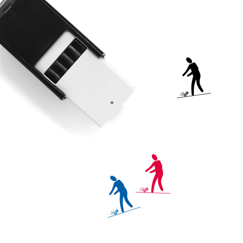 Dropped Phone Self-Inking Rubber Stamp No. 1
