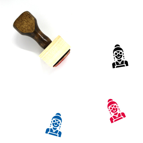 Lady Wooden Rubber Stamp No. 72
