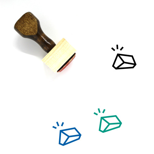 Rock Wooden Rubber Stamp No. 3