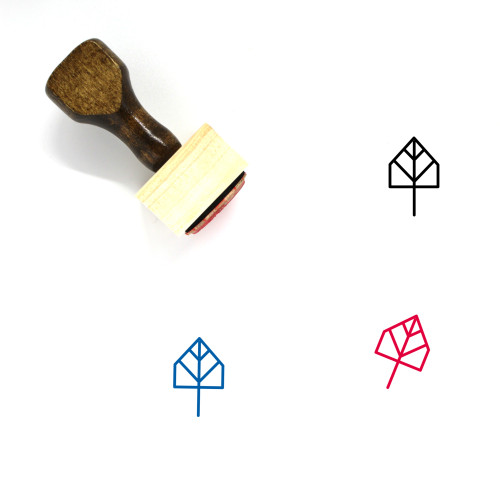 Tree Wooden Rubber Stamp No. 369