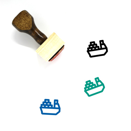 Naval Delivery Wooden Rubber Stamp No. 9