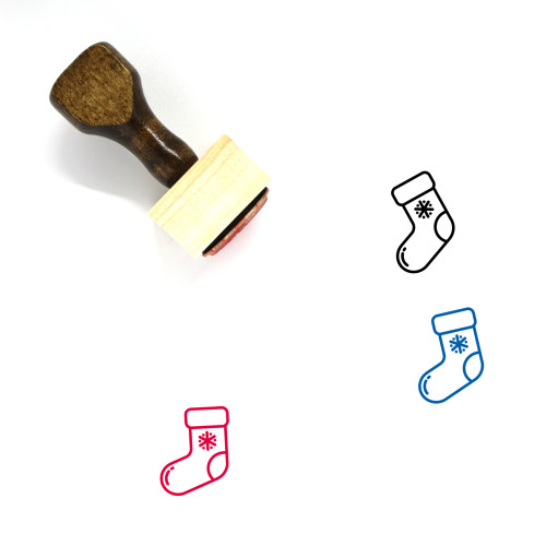 Stockings Wooden Rubber Stamp No. 36