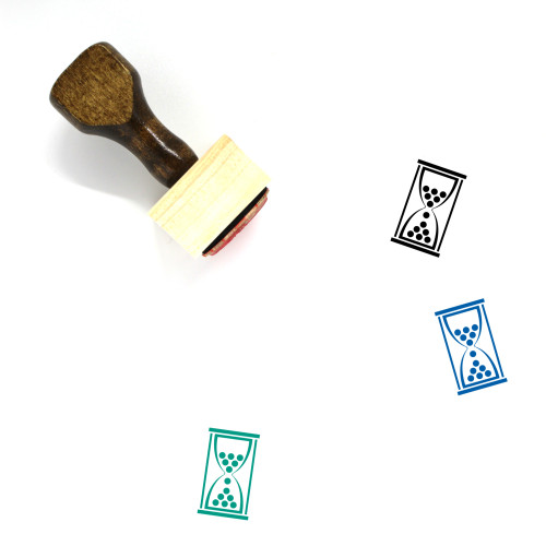 Hourglass Wooden Rubber Stamp No. 182