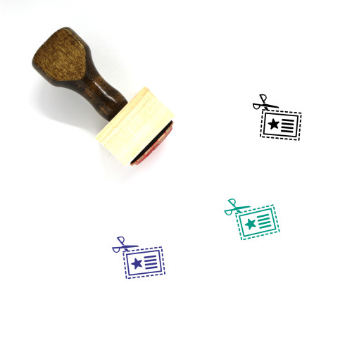 Coupon Wooden Rubber Stamp No. 15