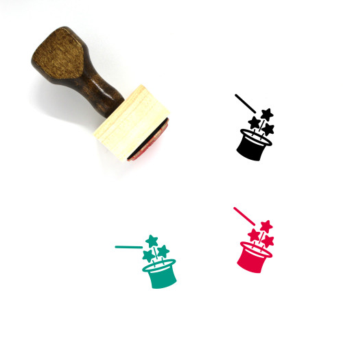 Magic Trick Wooden Rubber Stamp No. 9