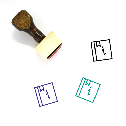Info Wooden Rubber Stamp No. 169