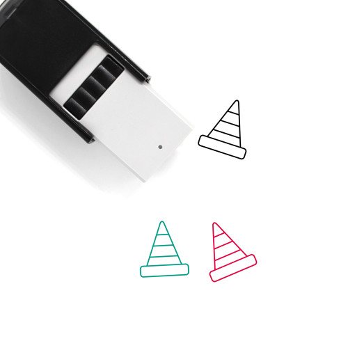 Traffic Cone Self-Inking Rubber Stamp No. 92