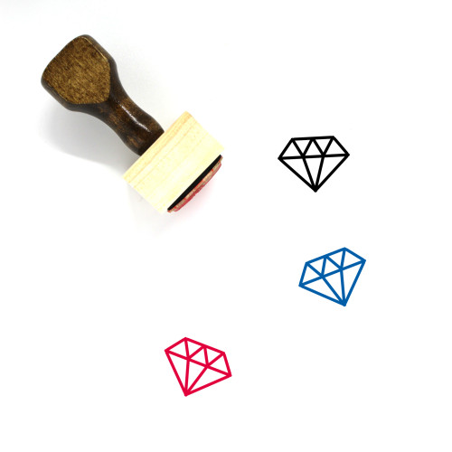 Diamond Wooden Rubber Stamp No. 148