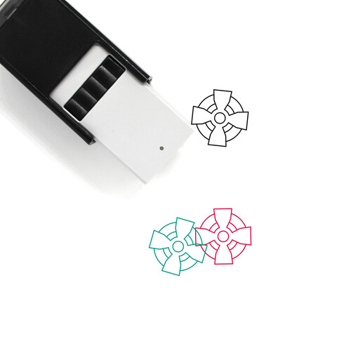 Celtic Cross Self-Inking Rubber Stamp No. 12