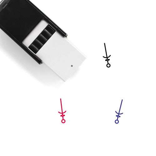 Sword Self-Inking Rubber Stamp No. 224