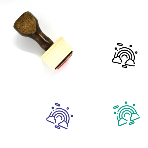 Celebrate Wooden Rubber Stamp No. 48