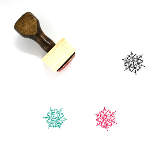 Snowflake Wooden Rubber Stamp No. 246
