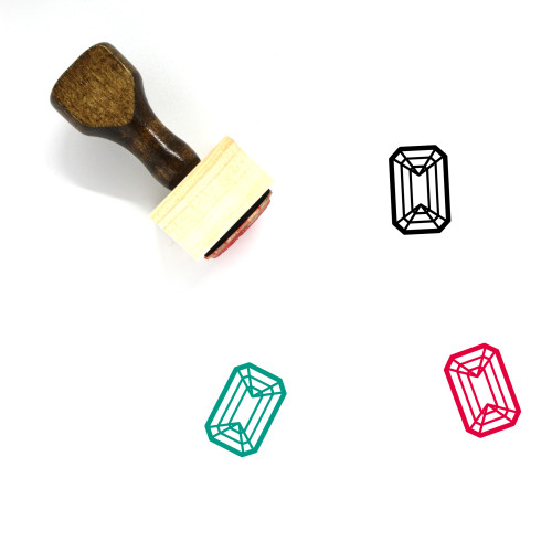 Emerald Wooden Rubber Stamp No. 4