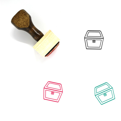 Treasure Chest Wooden Rubber Stamp No. 42