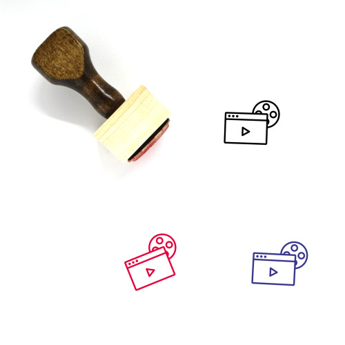 Entertainment Wooden Rubber Stamp No. 24