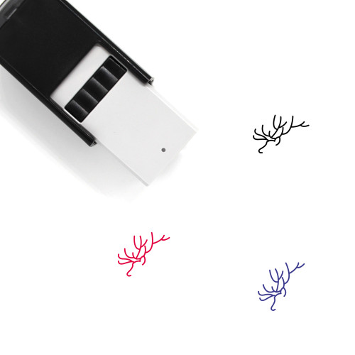 Antlers Self-Inking Rubber Stamp No. 9