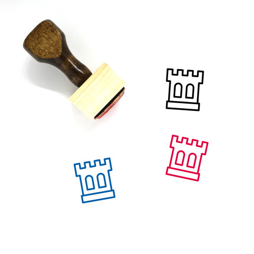 Castle Wooden Rubber Stamp No. 238